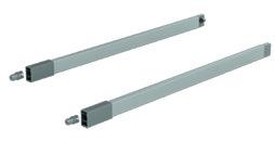 Relingset für Frontauszüge mit Reling / Doppelreling HETTICH ArciTech silber