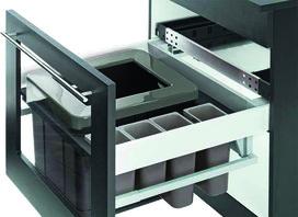 112.0204.029 Blum Müllauszugs-Set hängend Element 550mm / Seite 16mm