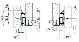 Teilauszug FULTERER 450mm FR 2021 aufl. weiss 35kg
