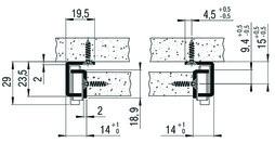 Teilauszug FULTERER 550mm FR 311 unten weiss, 30 kg