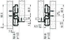 Vollauszug FULTERER 600mm FR 786 ECD aufl. weiss, 55 kg