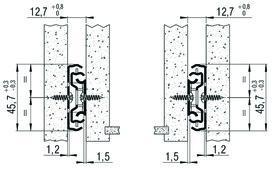 Vollauszug FULTERER 450mm FR 5000 seitl. verzinkt, 45 kg