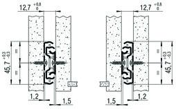 Vollauszug FULTERER 250mm FR 5000 seitl. verzinkt, 45 kg