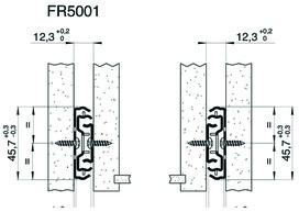 Vollauszug FULTERER 600mm FR 5001 ECD seitl. verzinkt, 4