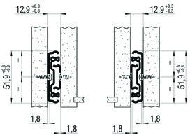 Vollauszug FULTERER 400mm FR 5052 seitl. verzinkt, 90 kg