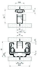 Kulissenauszug FULTERER 650mm FR 775-A, weiss, 75 kg