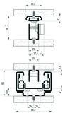 Kulissenauszug FULTERER 750mm FR 775-A, weiss, 75 kg