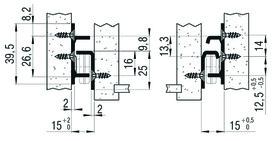 Teilauszug FULTERER FR 1051SCC 400 mm, seitl. Edelstahl, 40kg