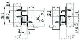 Teilauszug FULTERER FR 1052SCC 650 mm, seitl. Edelstahl, 40kg