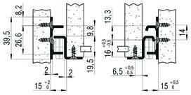 Teilauszug FULTERER FR 2051SCC 600 mm, aufl. Edelstahl, 40kg