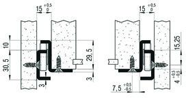 Teilauszug FULTERER FR 505 SCC 700 mm, aufl. Edelstahl, 80kg