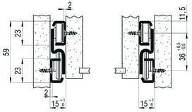 Vollauszug FULTERER FR 6010SCC 600 mm, seitl. Edelstahl, 50kg