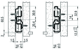 Vollauszug FULTERER FR 790 SCC 600 mm, seitl. Edelstahl, 68kg