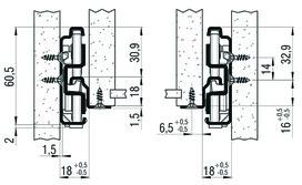 Vollauszug FULTERER FR 791 SCC 550 mm, aufl. Edelstahl, 53kg
