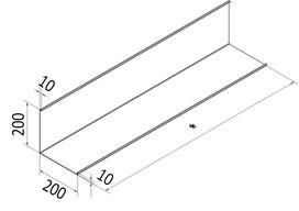 132.0081.663 Verkleidungskanal zu Wandhaube mit Abbug