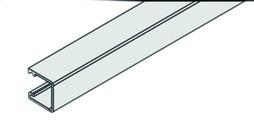 EKU 040.3040.350 Vertikalprofil EKU-REGAL B 25 Alu eloxiert, L= 3500 mm
