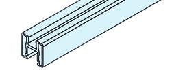 EKU 042.3001.300 Rahmenprofil vertikal, Alu elox. 3000 mm