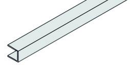 EKU 042.3005.300 Rahmenstirnprofil, Alu eloxiert, 3000 mm