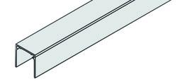 EKU 042.3049.350 Einfachführungsschiene EKU-DIVIDO, Alu eloxiert, 3500 mm