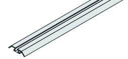 EKU 042.3080.350 Einfachlaufschiene, Alu, eloxiert, zum Kleben, 3500 mm