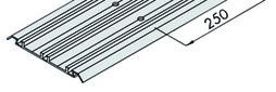 EKU 042.3082.350 Dreifachlaufschiene, Alu, eloxiert, gelocht, aufgesetzte Montage, 3500 mm