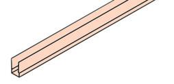 EKU 042.3086.350 Abdeckprofil, Alu, eloxiert, 3500 mm