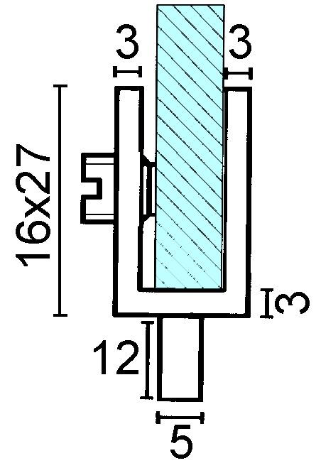 Glastürscharniere