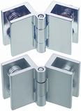Doppelte Glastürscharniere für bündige Montage