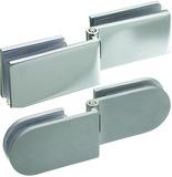 Doppelte Glastürscharniere für Winkel-Montage