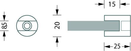 Glastablar-Klemmträger PHOS
