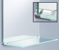 Glastablar-Klemmträger / Spiegelhalter PHOS
