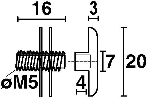 Rändelschraube M 5
