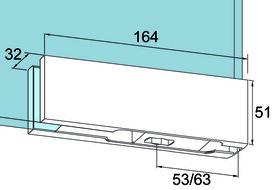Unterer Eckbeschlag PT 10 für Ganzglasanlagen DORMA Universal