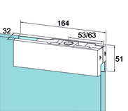 Oberer Eckbeschlag PT 20 für Ganzglasanlagen DORMA Universal
