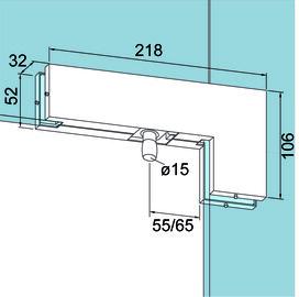 Winkeloberlichtbeschlag PT 40 für Ganzglasanlagen DORMA Universal