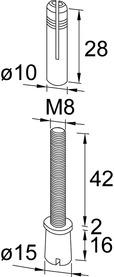 Oberer Zapfen PT 25 zu DORMA Universal