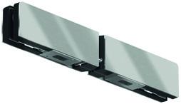 Doppelter Oberlichtgegenkasten GK 20 für Ganzglasanlagen DORMA Mundus Comfort