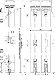 Schiebetürbeschläge OK-LINE Slideflex AR 80 Bausatz