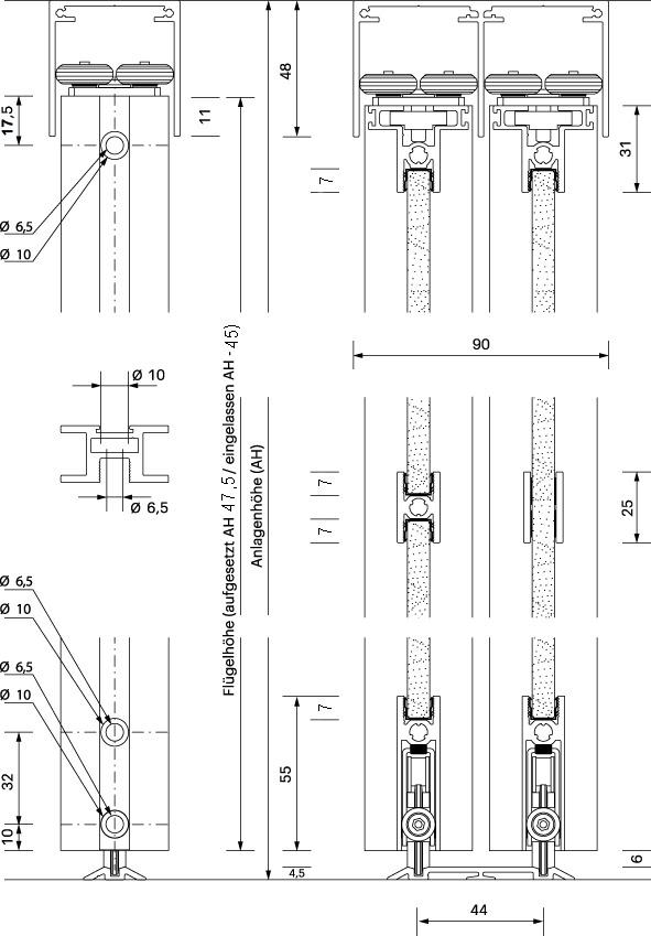 Schiebetürbeschläge OK-LINE Slideflex AR 80
