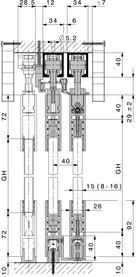 Schiebetürbeschläge HAWA-Telescopic 80/G