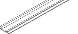 Blendenprofil HAWA PORTA 100 GW / GWF