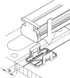 Einbetonierprofile HAWA-Adapto 80-120