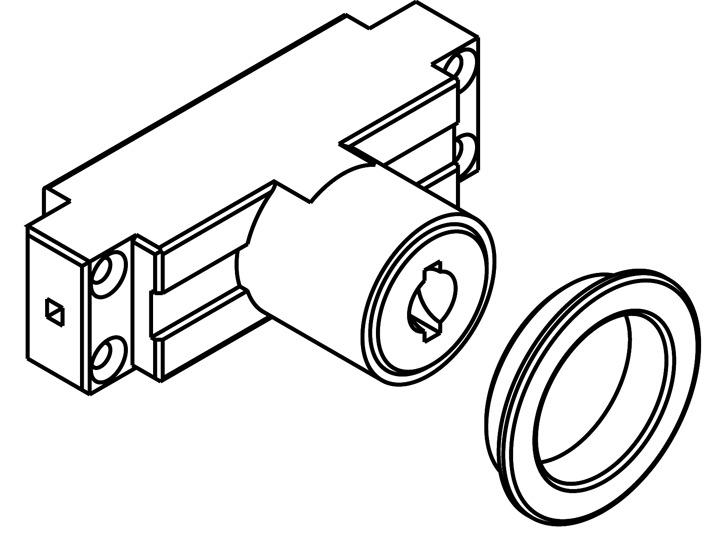 Zylindermodul zu Rundriegelschloss