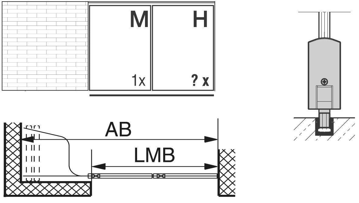 Schiebewandbeschläge HAWA-Aperto 60/GL