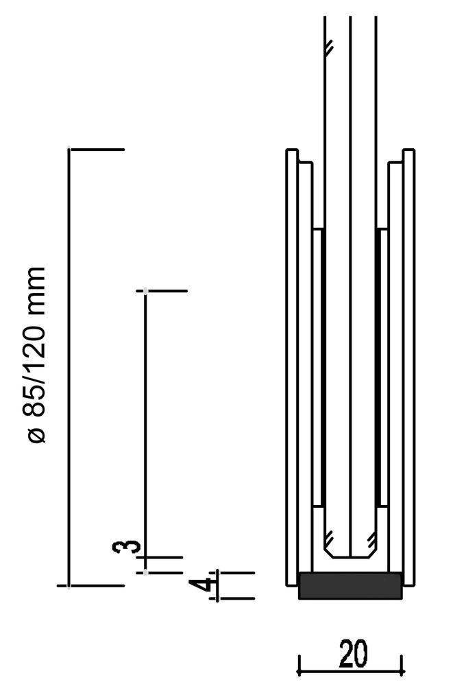 Komplett-Set Schiebetürbeschläge SMK 380/390