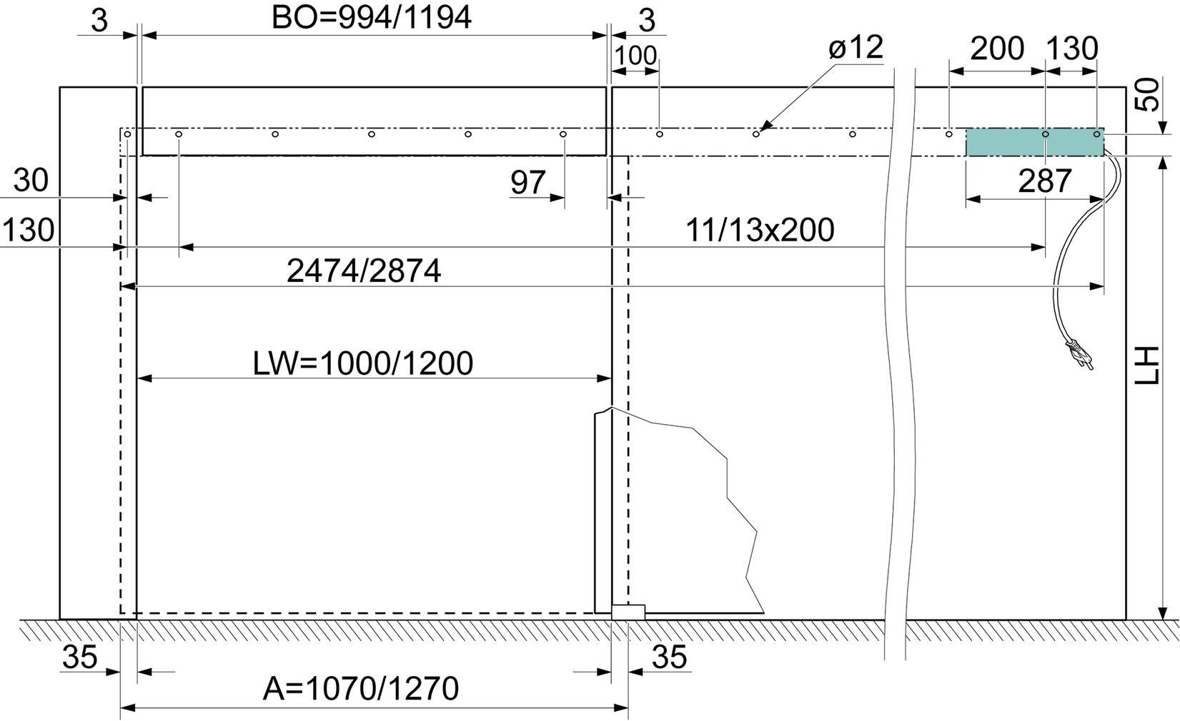 Schiebetürbeschläge VITRIS Portavant 80 automatic, Glaswandmontage