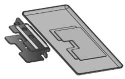 Adapter für Wandprofil VITRIS Atrivant 80