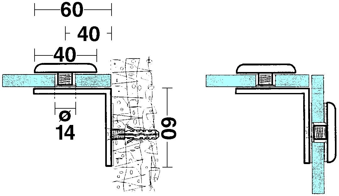 Glasverbinder 90°