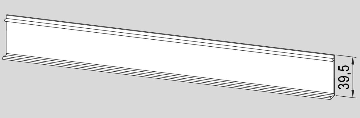 Deckprofil zum Aufclipsen