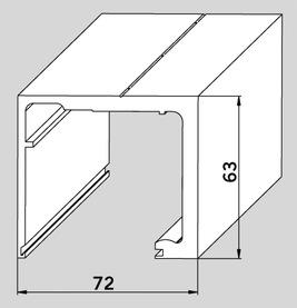 Laufschienenprofil AGILE 150 für Deckenmontage